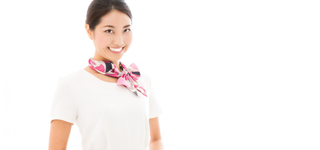 young asian woman business image on white background